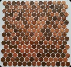 Check our real penny tile made with real random pennies as interlocking mosaic tile sheets. Handmade quality by Real Penny Tile Projects Made Easy. Match your copper sink with a penny backsplash. Decorative Tile Backsplash, Penny Backsplash, Backsplash Cheap, Copper Backsplash, Herringbone Backsplash, Beadboard Backsplash, Penny Wall, Mosaic Tile Sheets, Penny Round Tiles