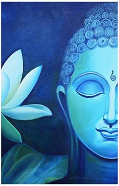 Beautiful Half Face Buddha Painting (Canvas Print, cm x 70 cm) Budha Painting, Painting & Drawing, Lotus Painting, Painting Canvas, Kerala Mural Painting, Painting Abstract, Buddha Kunst, Buddha Buddha, Buddha Face