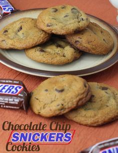 Chocolate Chip Snickers Cookies