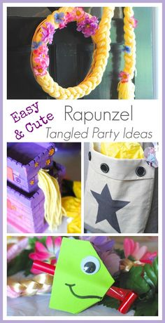 Easy & Fun Rapunzel and Tangled Birthday Party Ideas