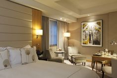 The luxurious guest accommodation at the InterContinental Westminster Hotel - located in London's prestigious Mayfair. Westminster Hotel, Hotel Safe, Room Inspiration, Hotel Interiors, Furniture, Interior, Room Lights, Hospital Interior, Hotel Inspiration