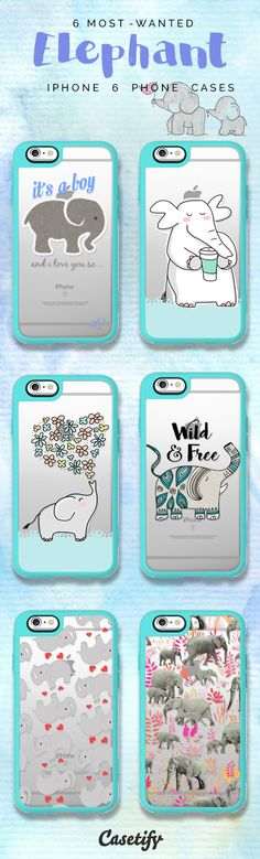 All time favourite Elephant iPhone 6 protective phone case designs | Click through to see more iphone phone case ideas >>> https://www.casetify.com/collections/iphone-6s-elephant-cases#/?device=iphone-6s | @casetify