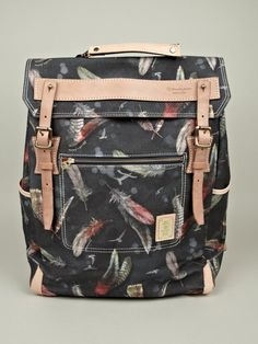 Master-piece x Nowartt Collaboration Series Feather Print Backpack