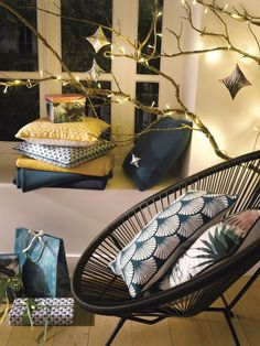 Collection Déco Tati par Cristina Cordula Tati, Deco Design, Decoration, Hanging Chair, Furniture, Beautiful, Xmas, Decor Ideas, Home Decor