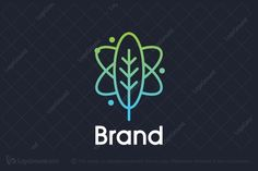 Logo for sale: Plant Atom Logo plant atom science nature green blue herb herbal three wellness supplement flower particles flying leaf natural scientific pharmaceutical health logo logos