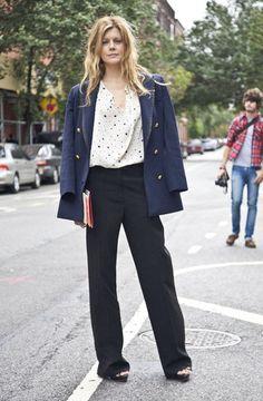Virginie Mouzat #BellesDeJour #netaporter  Top + coat/cover up/blazer + pants