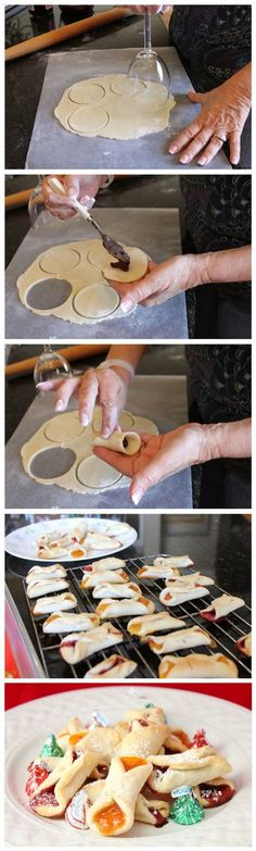Cream Cheese Cookies Ingredients: 2 sticks of salted butter, softened 2 ½ cups flour 8 oz cream cheese, softened 1 (15-18 oz jar...