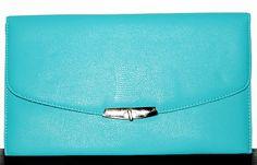 Turquoise Envelope Clutch, $24.95 by Boutique LeRaven