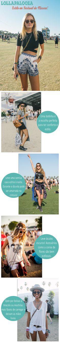 Festival de Música: Estilo no Lollapalooza #festival #look #outfit #music #lolla #lollapalooza #estilo #looknowlook