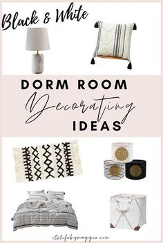 Black and white themed dorm room ideas. All about dorm room ideas for decorating the cutest dorm on the floor this semester! I loved decorating my dorm room in college but I hated searching the internet for hours trying to find the cutest dorm accessories!  #dormdecor #dormroomideas #dormroomessentials #college #collegelife #dorm Dorm Room Themes, Cute Dorm Rooms, College Dorm Rooms, Teen Rooms, College Life, Room Decor, Dorm Design, Interior Design, Dorm Accessories