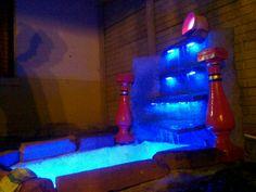 Mini edtanque con luces LED, para embellecer un jardin.