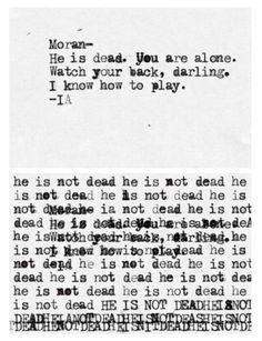 Irene Adler's note to Sebastian Moran. I wish they'd do something like this in series 3 of BBC Sherlock.