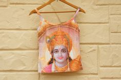 Vintage 90s Indian Thai Krishna Print Tank Top by SycamoreVintage