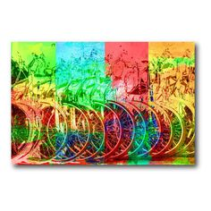 Bicycle Stand Canvas Wall Art - 18W x 12H in. - WEB-P103