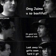 Pierce the Veil Vic and Jaime lol