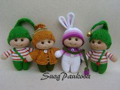 boy & girl mod made by Jessica Z. / based on lalylala crochet patterns Photo from flamin_goo ♡ Crochet Gifts, Cute Crochet, Crochet Baby, Knit Crochet, Crochet Doll Clothes, Knitted Dolls, Crochet Dolls, Amigurumi Doll, Crochet Patterns Amigurumi