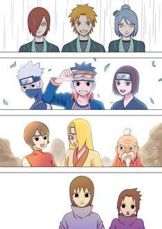 Naruto Sharingan, Naruto Kakashi, Anime Naruto, Naruto Akatsuki Funny, Sasori And Deidara, Deidara Akatsuki, Naruto Teams, Naruto Cute, Naruto Funny