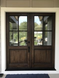"""Most current Absolutely Free Farmhouse Front Door double Concepts Interior designers often reference art as """"the jewelry of the house,"""" but in regards to enhancin Double Front Entry Doors, Front Door Entrance, Farmhouse Front Doors, Front French Doors, Wood Front Doors, Oak Doors, Front Porch, Front Door Design, Exterior Doors"""