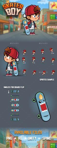 Skater Boy Character