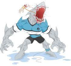 Eps Vector Of Shark Football Player Mean Shark Football