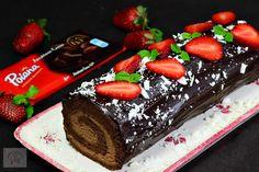 Rulada cu crema de ciocolata - CAIETUL CU RETETE Desserts, Food, Tailgate Desserts, Deserts, Essen, Postres, Meals, Dessert, Yemek
