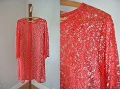 Vintage 60's Lace Swing Dress by cakeshopvintage on Etsy, $40.00