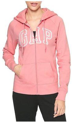 304fa1a585a1 GAP Arch Logo Zip Fleece Hoodie (11 Colors)