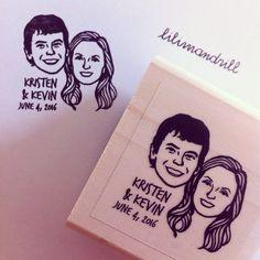 Custom Portrait Stamp @lilimandrill www.lilimandrill.fr #etsy #coupleportrait #EtsyGifts #EtsySuccess #etsywedding #wedding #mariage #bride #diy #couple #stamp #giftforcouple #handmade #gift #weddinggift #invitations #invites #etsylove