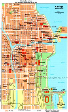Map Of Chicago Downtown Chicago My Kind Of Town Pinterest - Chicago map location