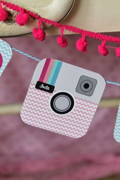 Pink Instagram themed birthday Party via Kara's party Ideas | KarasPartyIdeas.com #instagramparty (4)