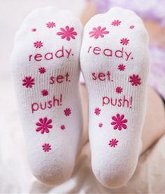 Ready. Set. Push! Labor Socks {Pink}