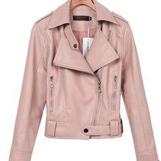 2016 весна осень большой размер XS XXL XXXL женщин кожаные куртки и пальто короткое молнии мотоцикла кожаная куртка пу верхняя одежда пальто Искусственную женская дубленка купить на AliExpress