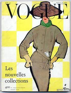 Vogue Paris 1956 March René Gruau, Guy Bourdin