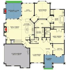 Rambler With Unfinished Basement - 23497JD | Craftsman, Northwest, Photo Gallery, 1st Floor Master Suite, Butler Walk-in Pantry, CAD Available, Den-Office-Library-Study, MBR Sitting Area, PDF, Corner Lot | Architectural Designs