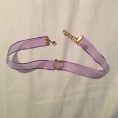 Purple Heart choker necklace Mesh purple choker with a heart Jewelry Necklaces
