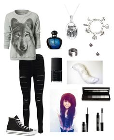 """""""Therian outfit #2"""" by tori-77 ❤ liked on Polyvore featuring Boohoo, Bling Jewelry, Jamie Wolf, Lauren Wolf, shu uemura, Lord & Berry, NARS Cosmetics and Converse"""