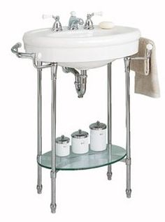 This sink would be great for our teenie bathroom. american-standard-standard-collection-console-sink