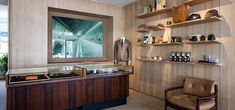 Inside Trunk store in Zurich Wooden Room, Wooden Walls, Store Interiors, Cash Register, Changing Room, How To Attract Customers, Retail Space, Creative Industries, Zurich