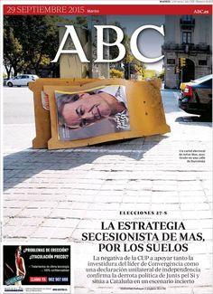 Problemas de erección? Eyaculación Precoz? / España. ABC. Portada pós-eleições Catalunha