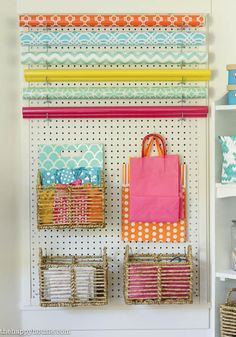 Colourful Cheery Craft Room Tour at thehappyhousie.com-8