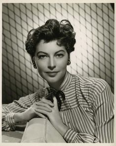 Portrait of Ava Gardner for Show Boat directed by George Sidney, 1951. Photo by Virgil Apger