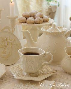 Beautiful Winter White Afternoon Tea