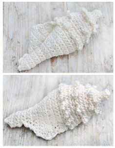 crocheted shell includes link to free pattern!