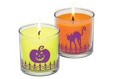 Halloween Fun Scented Candle Pair  To Order or Book a Party Call Lizz 234-738-1793