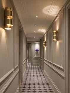 Hotel Hallway, Hotel Corridor, Home Room Design, Home Interior Design, House Design, Flur Design, Small Luxury Hotels, Lobby Design, Design Hotel