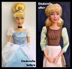 repainted ooak cinderella doll. - our cinderelly. by verirrtesIrrlicht.deviantart.com on @DeviantArt