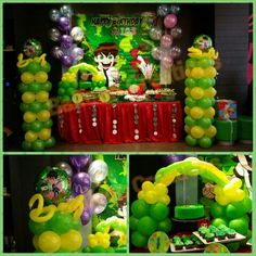 Ben 10 balloon set up