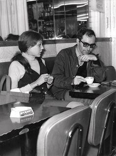 Anne Wiazemsky and Jean-Luc Godard