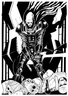 Darth Vader (Star Wars) A3 Original Inked Artwork - Signed by Artist 1/1 by…