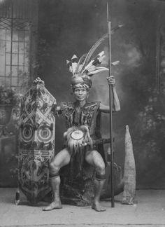King of Dayak Kahayan. Borneo, Indonesia.